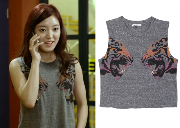 "Lee Se-Young in ""Trot Lovers"" Episode 5.  LAP Tiger Print Sleeveless Shirt #Kdrama #TrotLovers #트로트의연인 #LeeSeYoung #이세영"