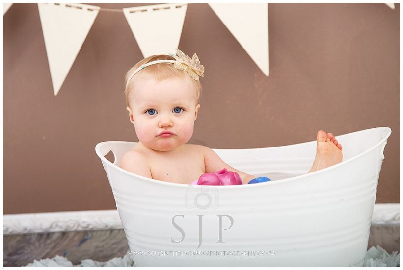 Twin Cake Smash shoot - Bubble bath session after the cake smash to ...