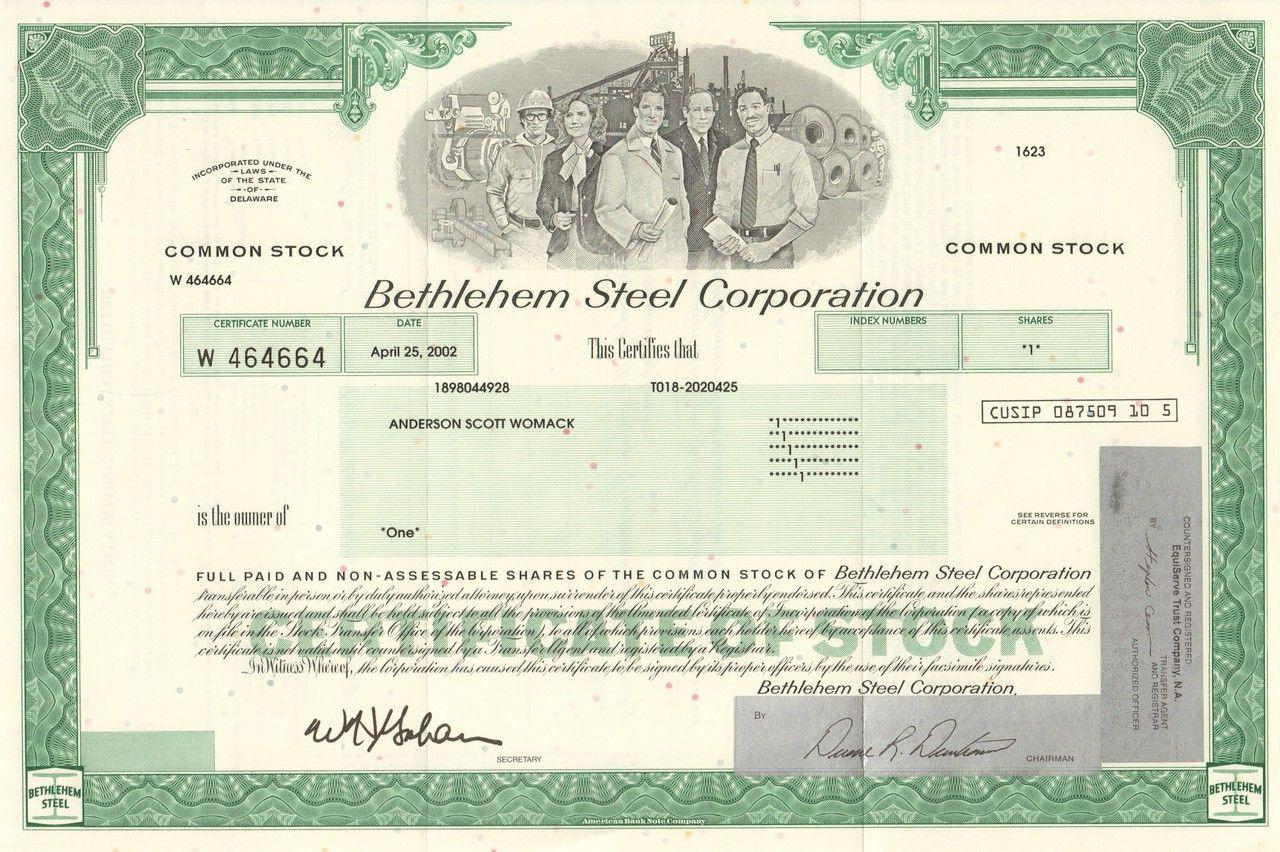 Bethlehem Steel Corporation 2002 Famous Bankruptcy Pinterest