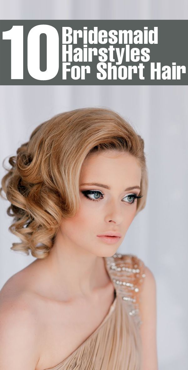 Formal Hairstyles For Short Hair How To : 14 great short formal hairstyles for 2017 bridesmaid