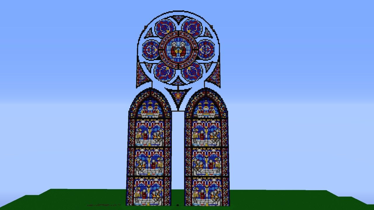 Minecraft Cathedral Stained Glass Fantasy Stained Glass