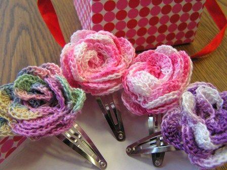 Free Pattern Rose Hair Clip Flowers Gotta Love It Yall