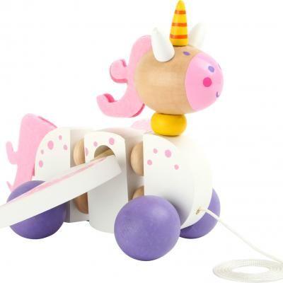 Animal a tirer licorne   Jouet, Jouet bois bébé, Licorne jouet
