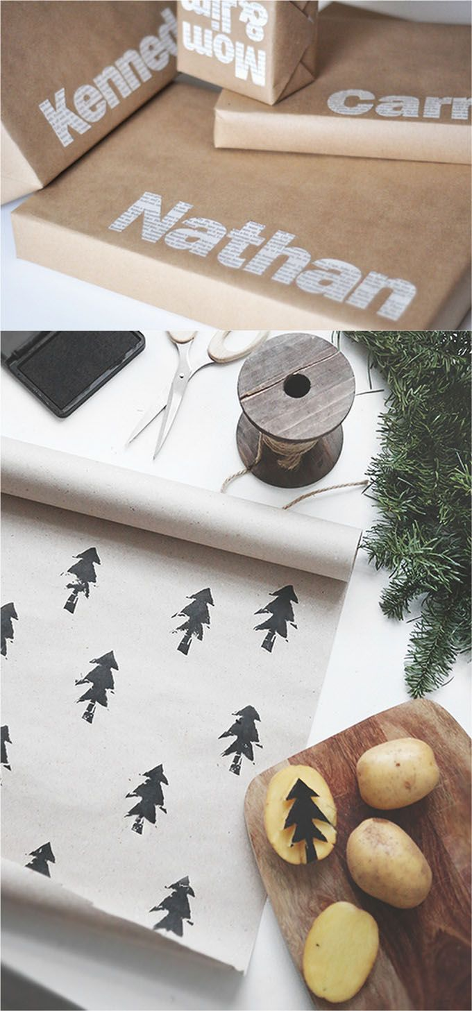 16 Favorite Easy Gift Wrapping Ideas Many Are Free With Images