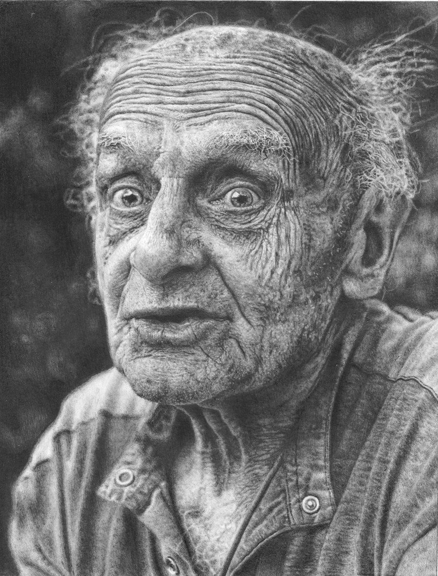 In The Good Old Days, old face, guy, powerful face, intense eyes, wrinckly, wrinckles, lines of life, cute, portrait, photo b/w.