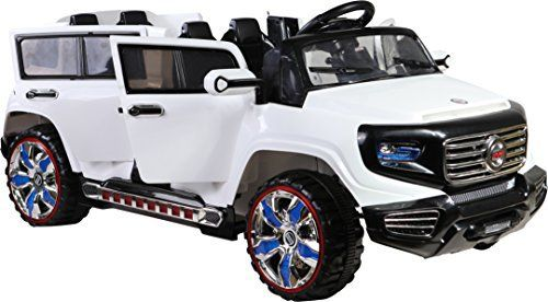 Kids 2 Seater 4 Door Rocket Quattro Suv 12v Electric Battery Ride On Car Jeep White Kids Ride On Toys Power Wheels Toy Cars For Kids