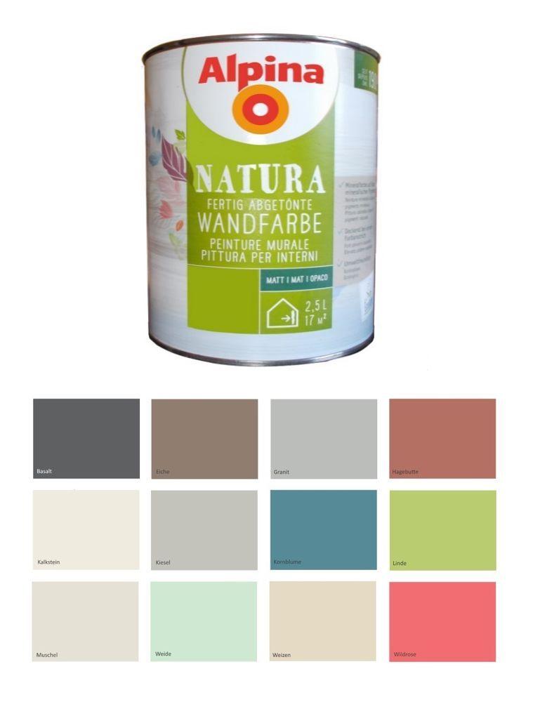Details Zu Alpina 2 5 L Natura Silikat Mineralfarbe Allergiker