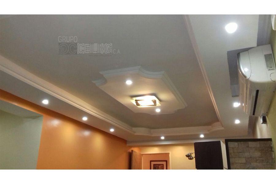 Dise o elaborado en drywall con canal de luz indirecta - Iluminacion indirecta led ...