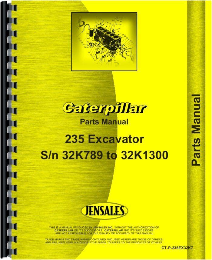 Caterpillar 235 Excavator Parts Manual