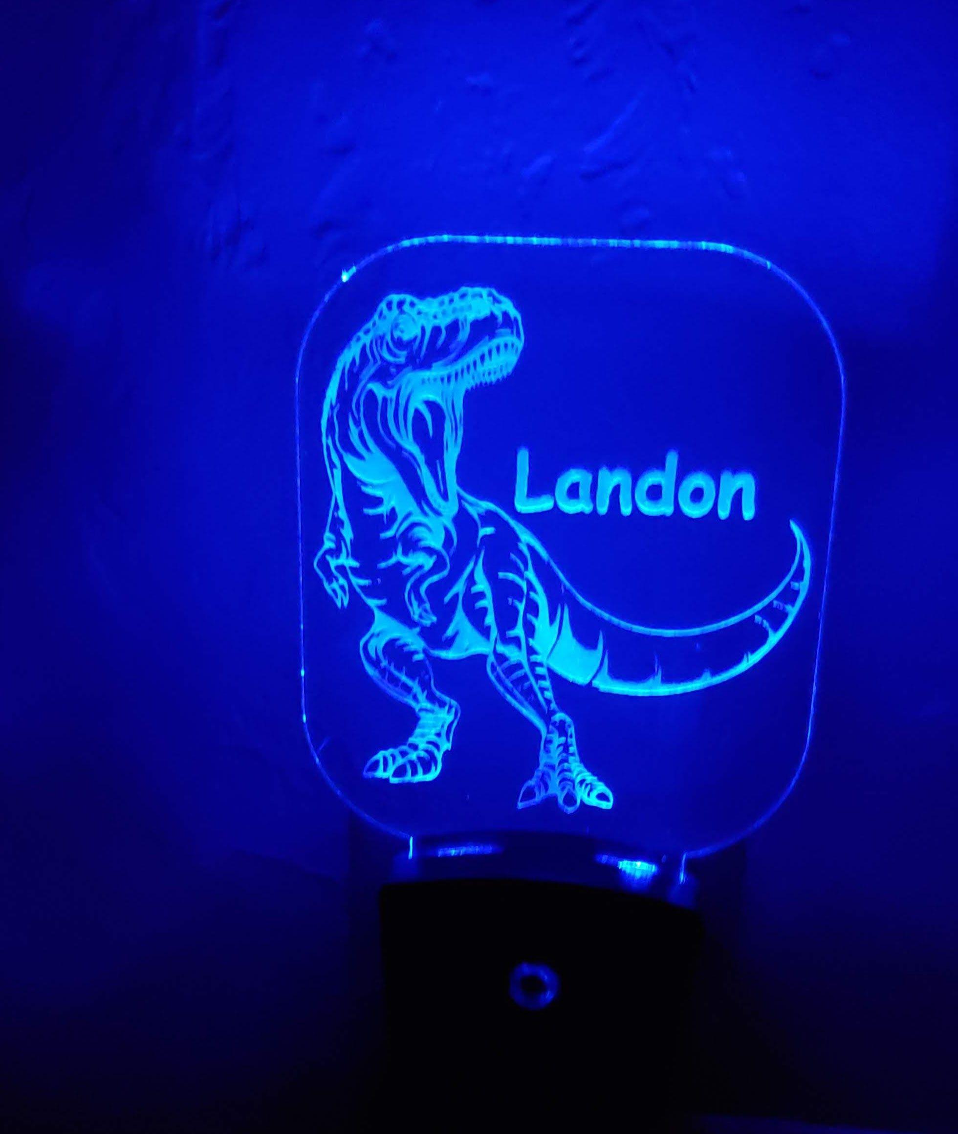 Night Light Personalized TRex, TRex nightlight