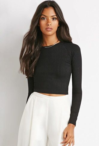 Ribbed Knit Crop Top Forever 21 2000141216 Stuff To Buy