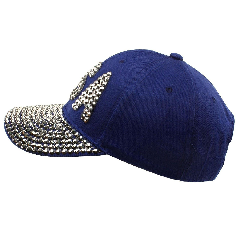 189fae548df46 USA Jewel Rhinestone Bling Studs Sparkle Baseball Ball Cap Hat ...