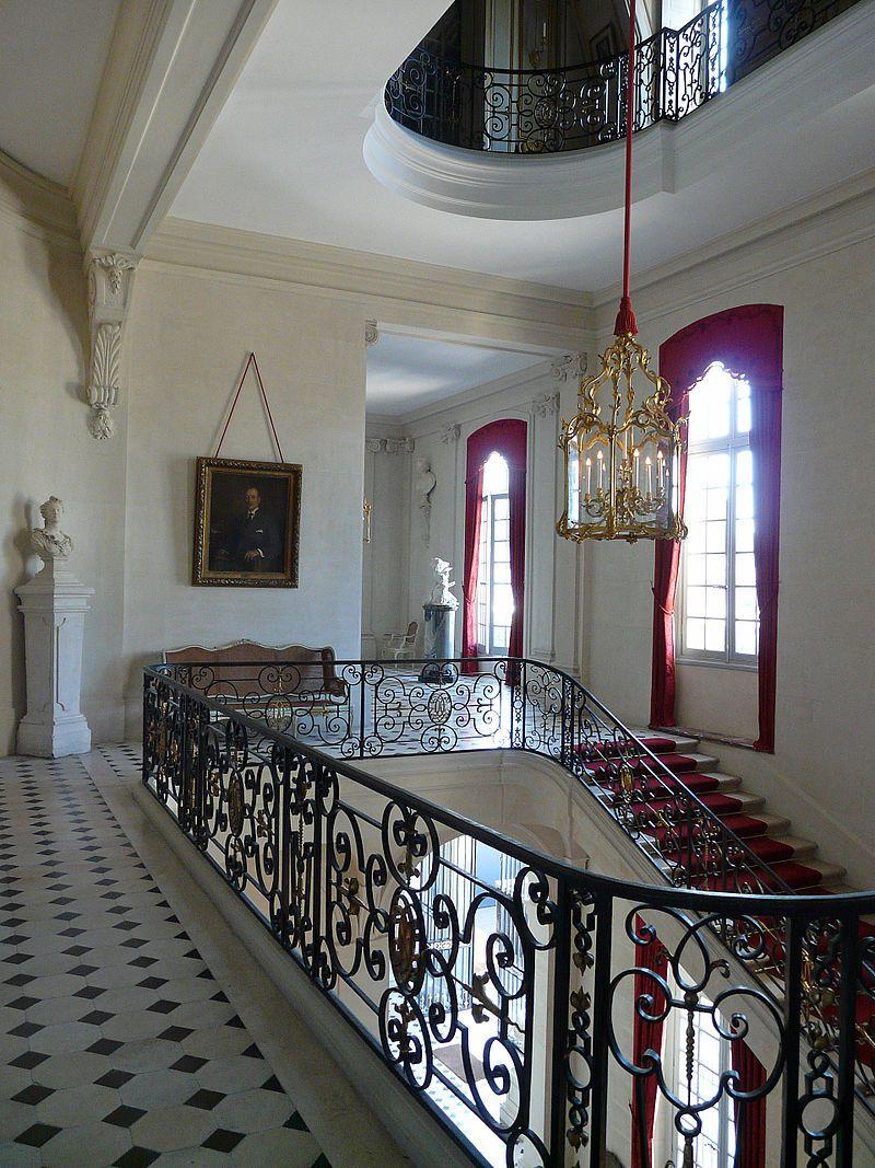 ch teau de champs sur marne ile de france escalier d 39 honneur 77 seine et marne ile de. Black Bedroom Furniture Sets. Home Design Ideas