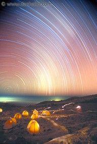 star trails-Mt. Kilimanjaro.