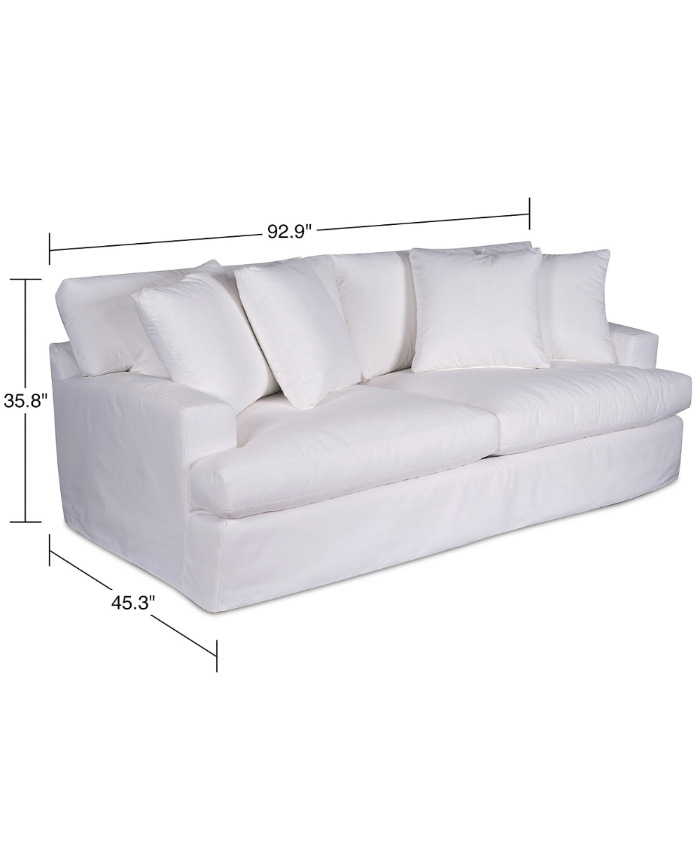 Brenalee 93 Performance Fabric Slipcover Sofa Pearl In 2020 Furniture Sofa Slipcovers
