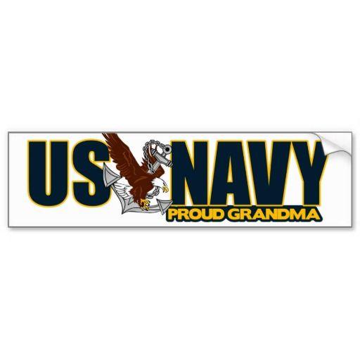 Proud navy grandma bumper sticker