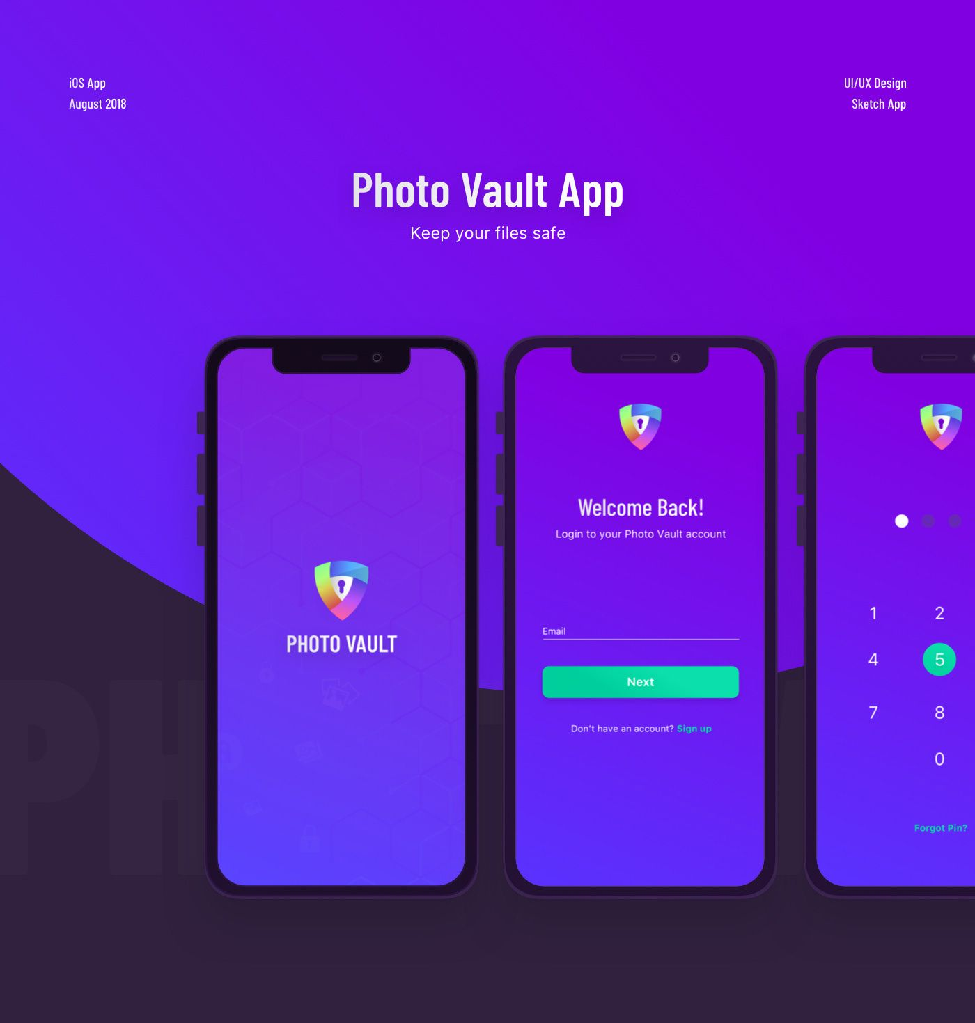 """Check out this Behance project """"Photo Vault"""" https//www"""