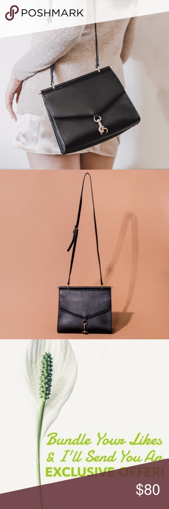 db63cbf0cda2 Lionel Handbags Black Brittany Crossbody Structured