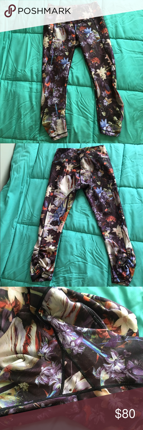 Calia by Carrie Underwood Capris Worn once! Completely sold out!!! Rare beautiful Capri'S. No flaws to note. Free of holes, snags, pills, or stains! Look new! Only selling because these aren't getting the love and attention they deserve. I tend to favorite my solids over my prints so these need a more loving home!   Size small. Will best fit up to a small 6.  Be sure to check out the rest of my closet for more amazing items! :)   Tags: lululemon, Nike, calia by Carrie underwood CALIA by…