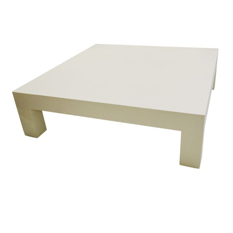 PERFECT  5 FT. SQUARE PARSONS DESIGNED COFFEE TABLE
