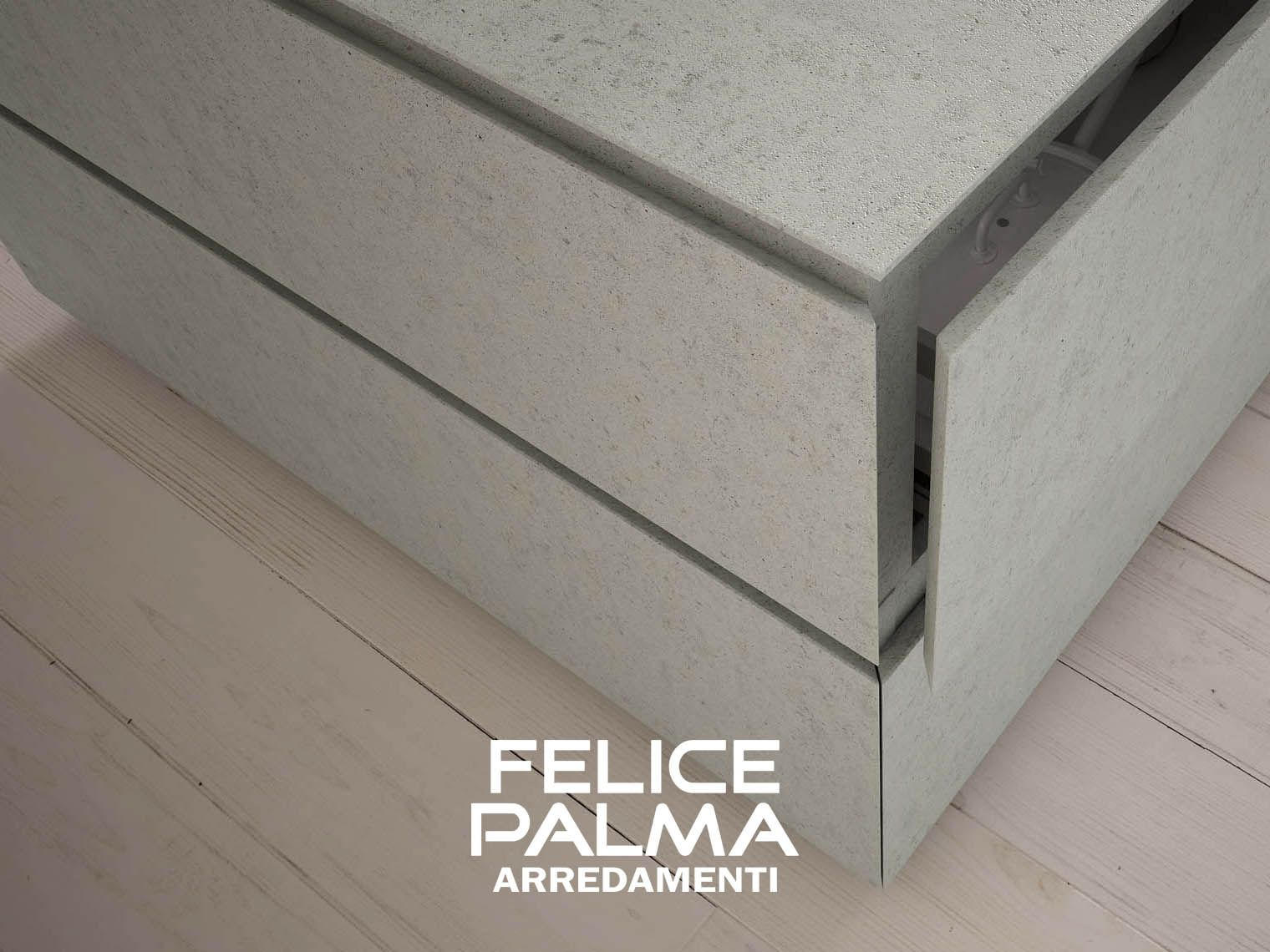 Legno Naturale Bianco : Cucina cemento ante legno moderno contemporaneo lineare