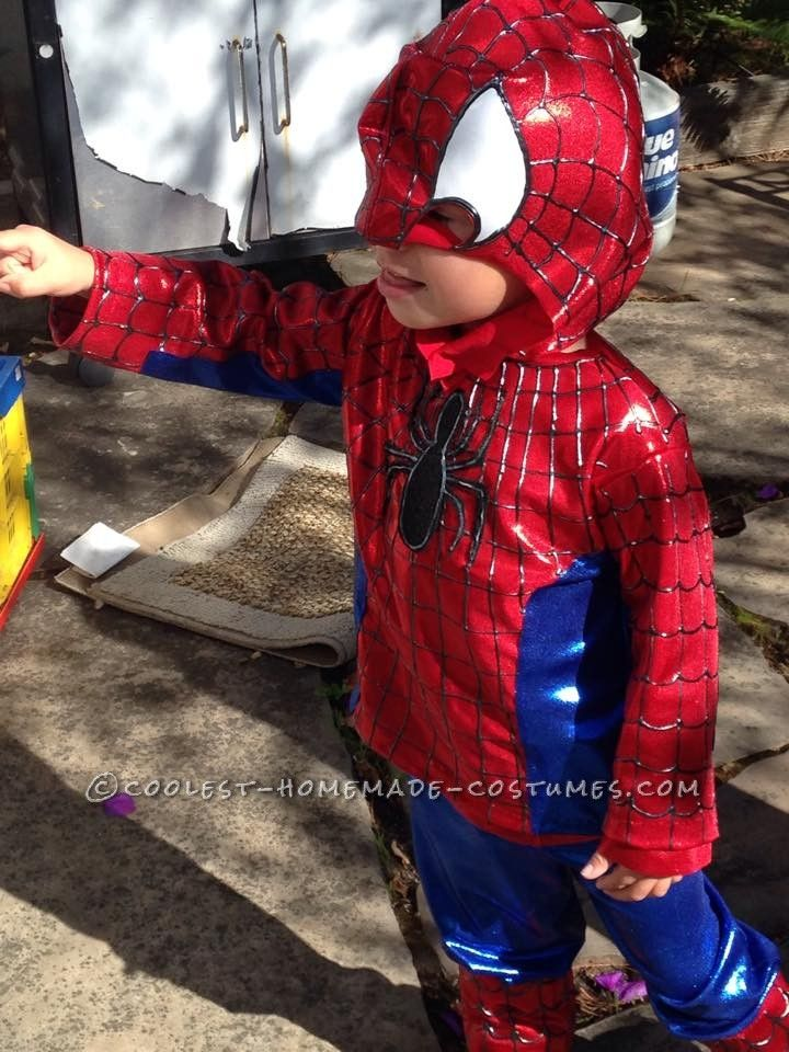 Cool Spiderman Costume For a Toddler... Coolest Halloween Costume Contest & Cool Spiderman Costume For a Toddler   Pinterest   Spiderman costume ...
