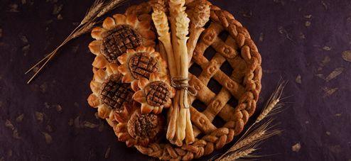 fall bread wreath