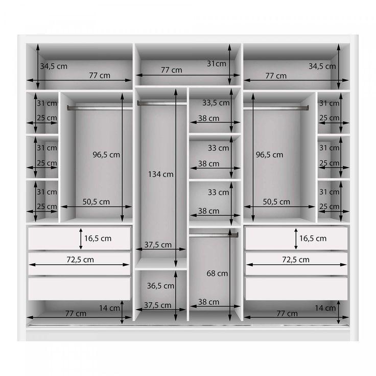 Double Wardrobe with 3 Mirror 3 Doors Siena Furniture White – MadeiraMadeira
