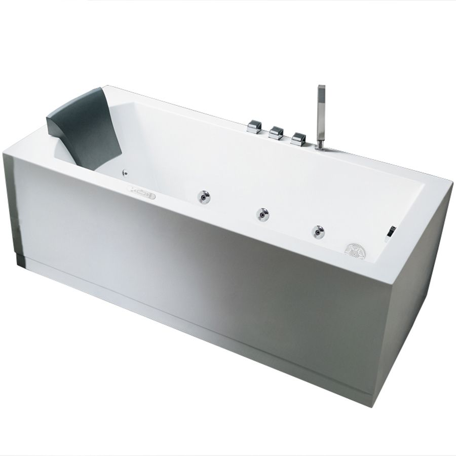 Ariel 59 In White Acrylic Freestanding Whirlpool Tub With