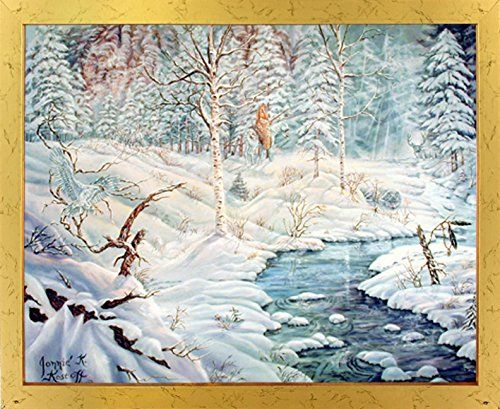 This beautiful - albinos of birch creek covered with snow landscape ...