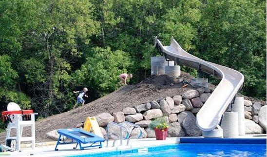 Homemade Pool Slide Ideas Pool Design Ideas Homemade Pools