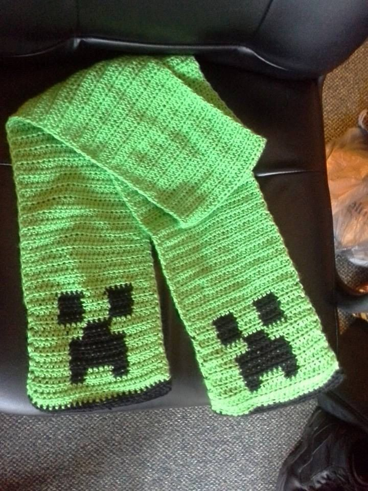 Creeper Scarf by PandaLovesCrafts on Etsy, $20.00 | Scarf | Pinterest