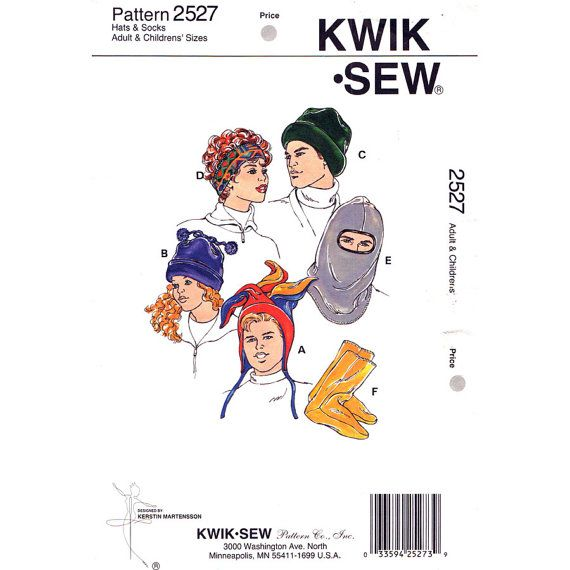 Hat Sewing Pattern Kwik Sew 2527 Jester Hat by finickypatternshop ...