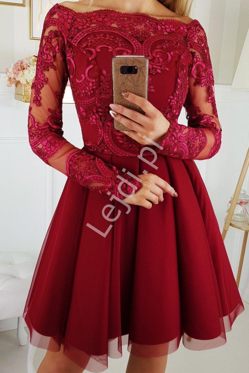 Sukienka Hiszpanka Z Rozkloszowanym Szyfonowym Dolem 2137 10 Dresses Formal Dresses With Sleeves Semi Formal Dresses With Sleeves