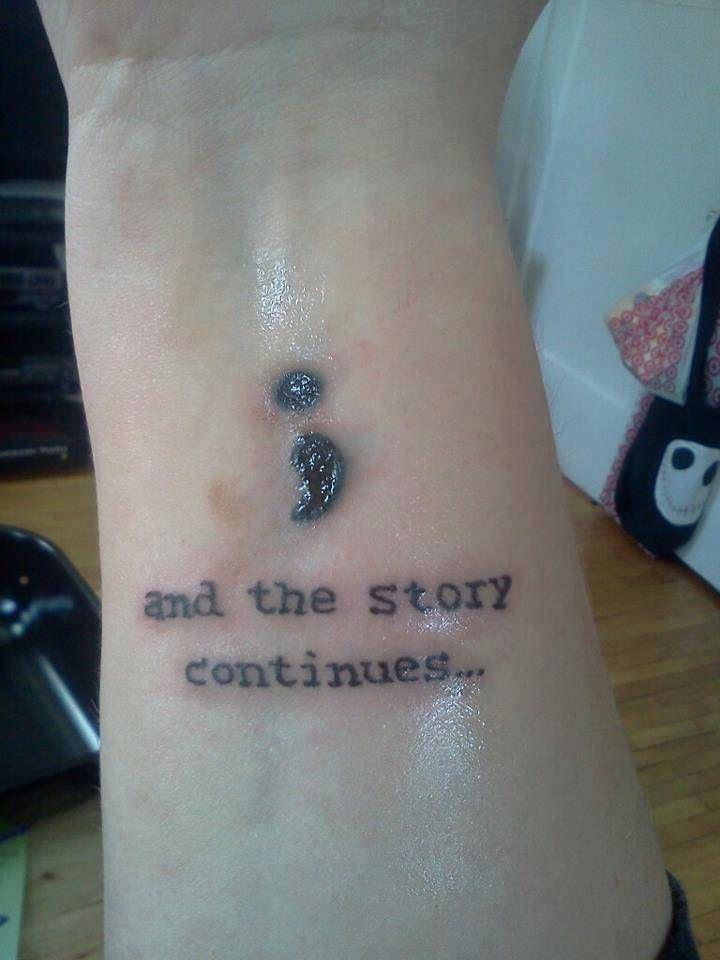 Esta Es La Fascinante Razón Por La Que El Tatuaje De Punto Y Coma
