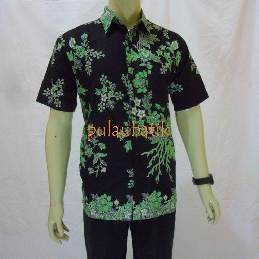 Model Baju Batik Pria Solo Modern Rc463 Warha Hitam Sebagai Dasar