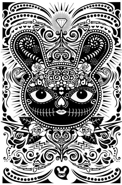 Day Of The Dead Bunny Celebration - Art Print by Bandit Bunny