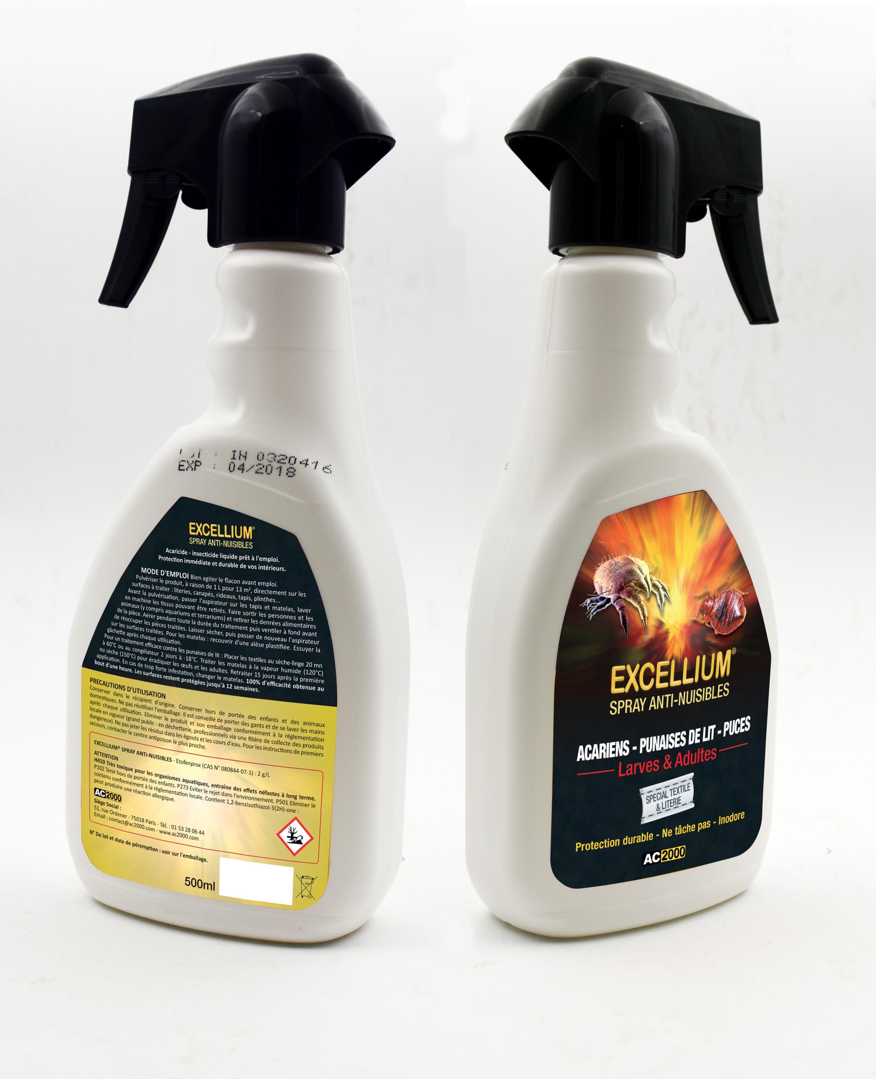 Spray Excellium Special Textiles Et Literie Punaises De Lit