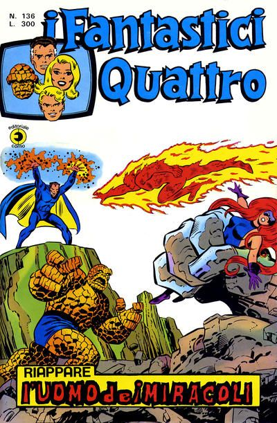 Cover for I Fantastici Quattro (Editoriale Corno 1971 series) #136 (Aprile 1975)