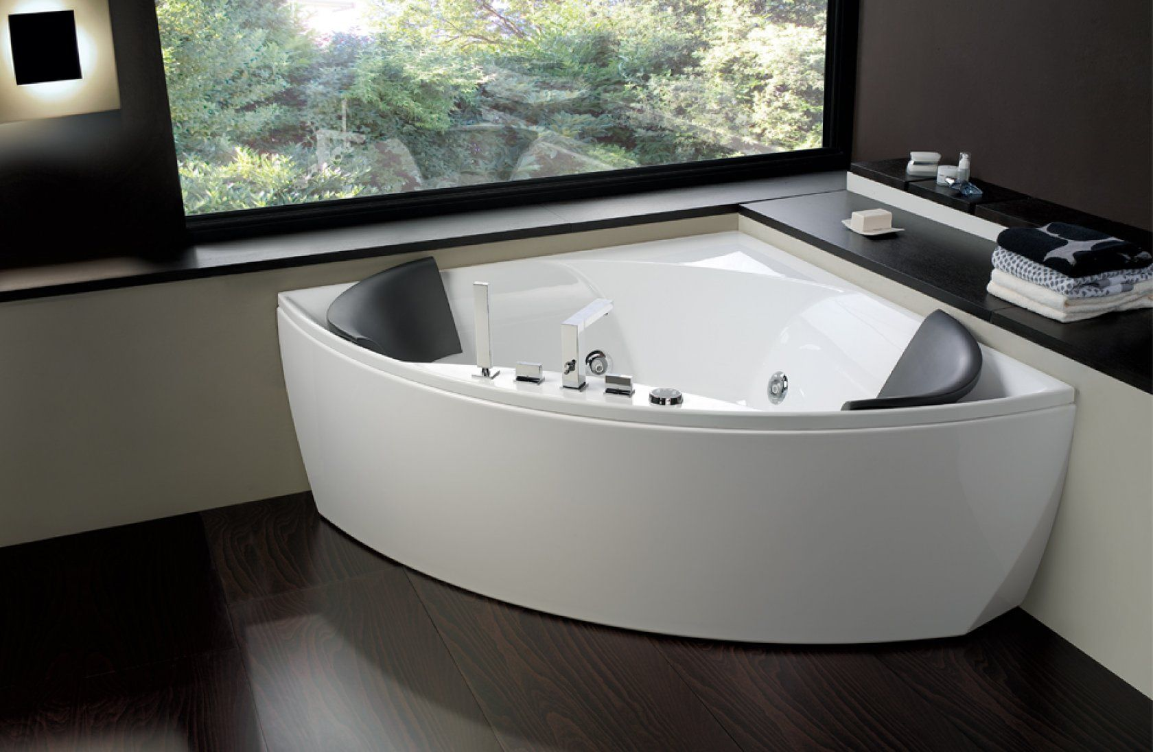 Vasca Da Bagno Angolare Jacuzzi : La vasca da bagno angolare arredo bagno pinterest