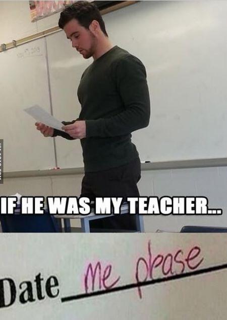 Dating teacher meme