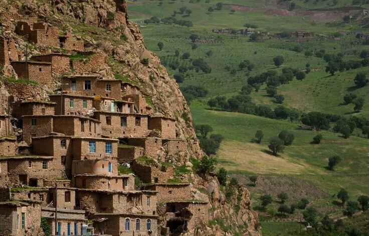 A view of Palangan village in Kurdistan province-Iran