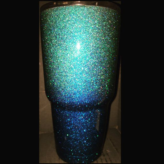 Teal And Blue Ombre Glitter Ozark Cup Like By