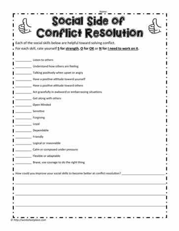 Conflict And Social Skills Social Skills Social Skills Lessons Social Skills Activities Conflict practice worksheets