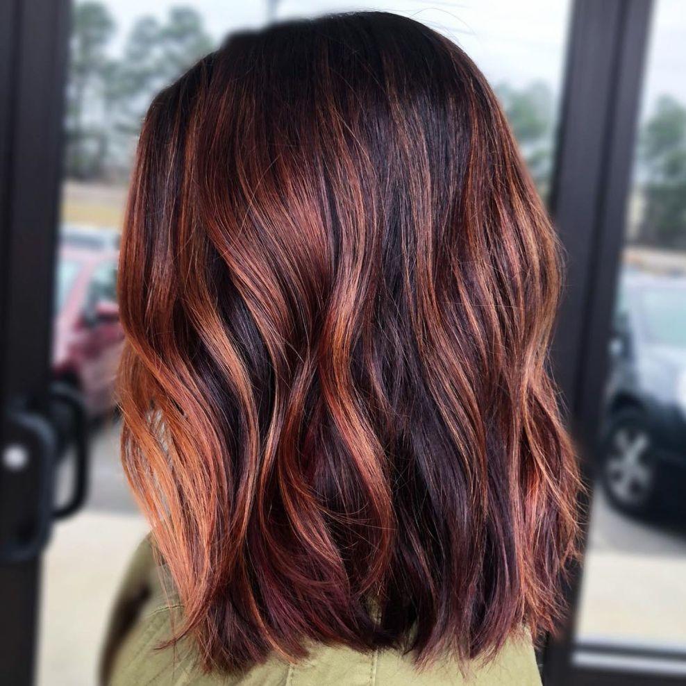60 Hairstyles Featuring Dark Brown Hair With Highlights Black Hair With Highlights Hair Highlights Hair Styles