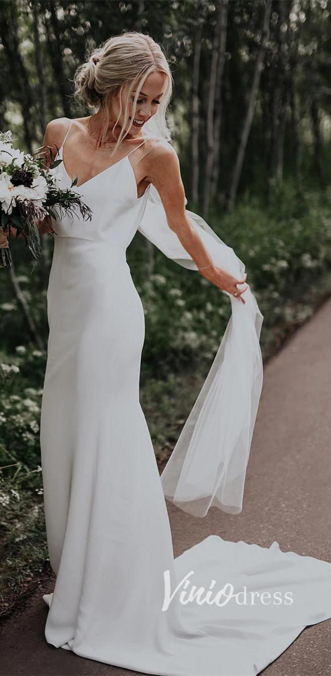 20+ Spaghetti strap wedding dress ideas