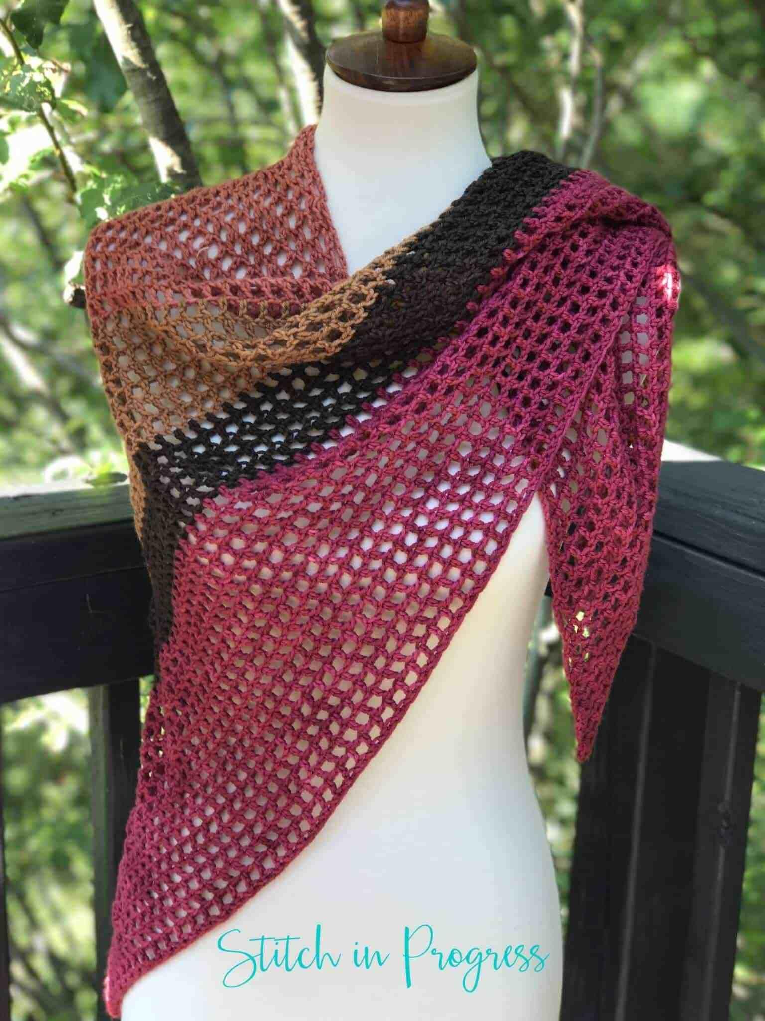 Easy Beginner Crochet Shawl I Did It Crochet Crochet Shawl