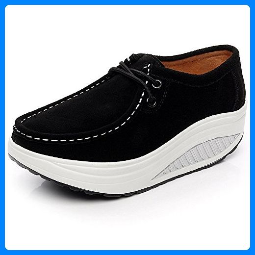 half off 3f769 b3bc4 Shenn Damen Plattform Motive Veloursleder Sneaker Schuhe ...