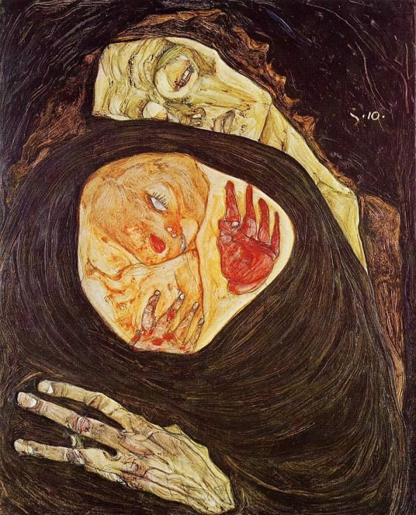 Edvard Munch Art | Expressionism Paintings Dead Mother Edvard Munch Painting Reproduction. NON !  EGON SCHIELE