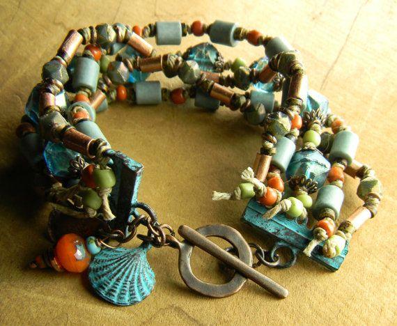 Tribal Jewelry Beaded Bracelet Paradise Beach by ChrysalisToo